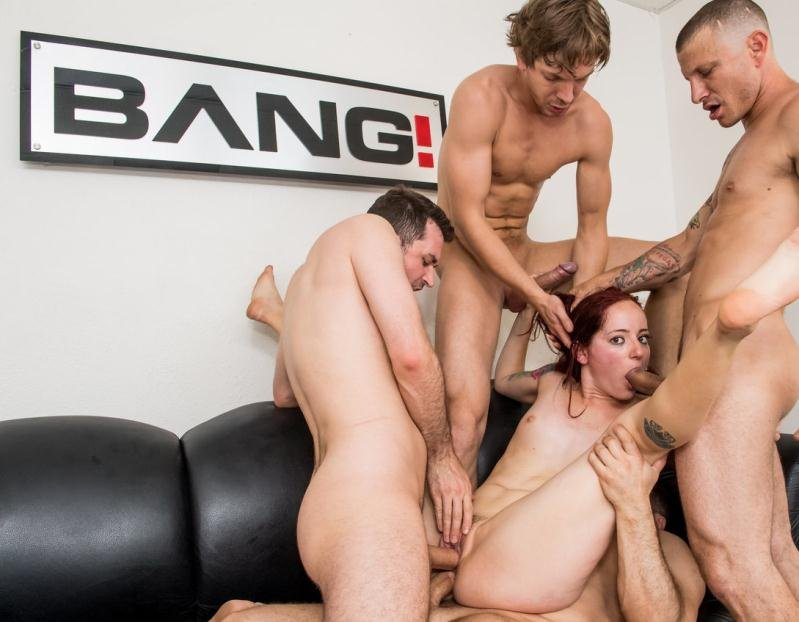 Redhead Ariel Blue Gets Throat Fucked And Double Penetrated In A Gangbang (Bang.com) [HD 720p] (1.42 GB) Ariel Blue